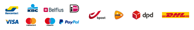 Partners Ingenico - Visa - Mastercard - Maestro - Bancontact - iDeal - Carte Bleue - Bpost - DPD - PostNL - DHL - GLS